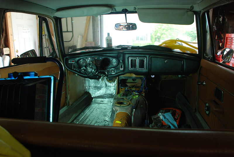 May 2012; Installed Dynamat insulation on driver's side.