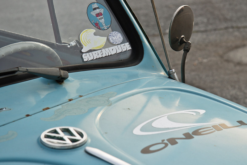 Mid to Late 1960s VW Bug - Clearly a Beach Resident! Found Near Los Aptos