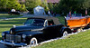 """2010. A 1941 Cadillac pulling the 19-foot, 1948 Chris Craft """"Annabelle."""""""