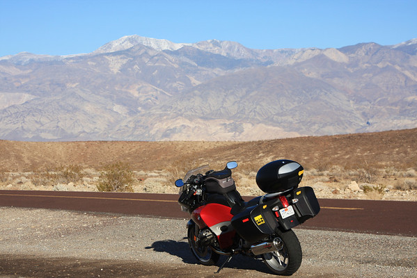 R1200ST in Death Valley.