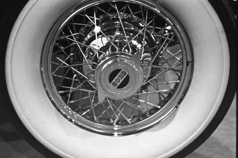 January 2012. Philadelphia Auto Show. B & W film scan.