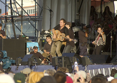 Bruce Springsteen and The Seeger Sessions Band at their first live performance.  A perfect setting and perfect venue for their debut.