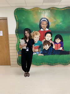 Gomez on her first day of teaching at Norwood Park in 2019.