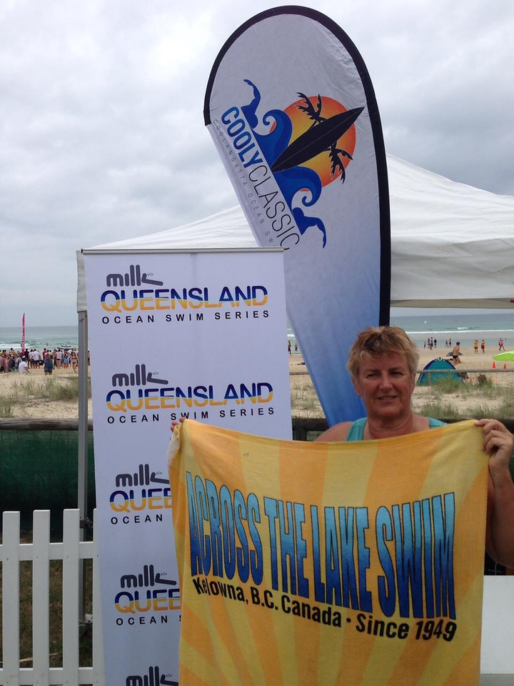 Helen's towel showed up at the Cooly Classic Ocean Swim at Kirra Beach, Queensland, Australia