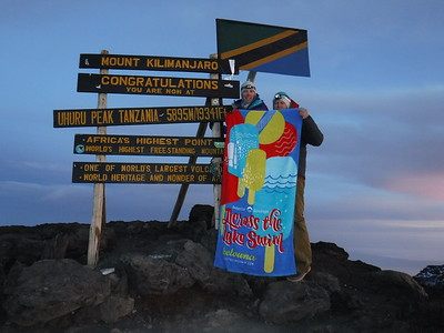 On top of Mount Kilimanjaro
