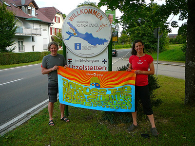 Graham and Biggi's towel is in Germany