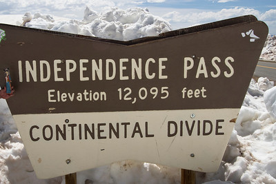At the top of Independence Pass near Aspen, Colorado.