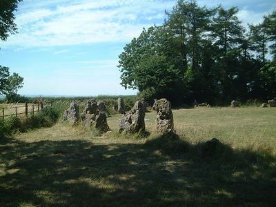 The Rollright Stones - actually in Oxfordshire