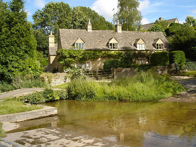 Cottage and ford at Upper Slaughter