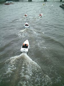 Power boat race on the Thames