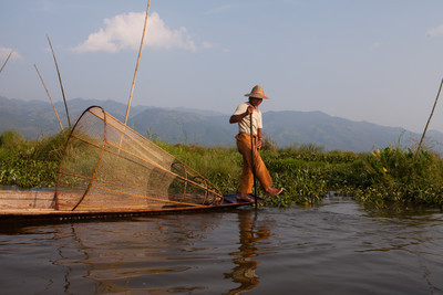 Obligatory fisherman, Inle