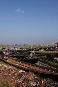 Boats on Inle