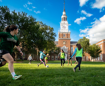 Dartmouth students taking full advantage of a gorgeous early fall day on the Green in Hanover. #dartmouth #uppervalleyvtnh #hanovernh #hanoverphotographer #ivyleague #soccer