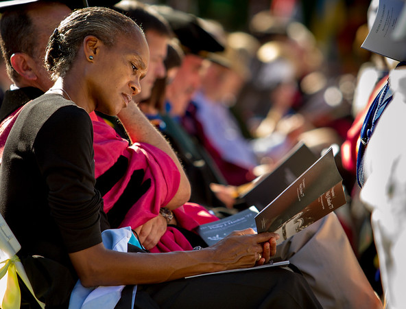 Evelynn Ellis, head of the Institute for Diversity and Equity at Dartmouth College, at the 2013 commencement ceremony