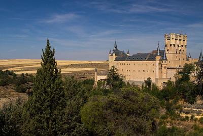 Alcazar in landscape, Segovia