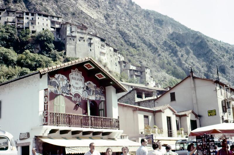 """4595 Avenue du Général de Gaulle, Touët-sur-Var, France.<br /> <br /> Yes, it's still there! <br />  <a href=""""http://www.cote-azur.com.fr/azur/adresses/hbergements_et_hotels/hotels_hotels-restaurants/le_relais_de_valberg_hotel_restaurant_bar_cafe.htm"""">http://www.cote-azur.com.fr/azur/adresses/hbergements_et_hotels/hotels_hotels-restaurants/le_relais_de_valberg_hotel_restaurant_bar_cafe.htm</a>"""