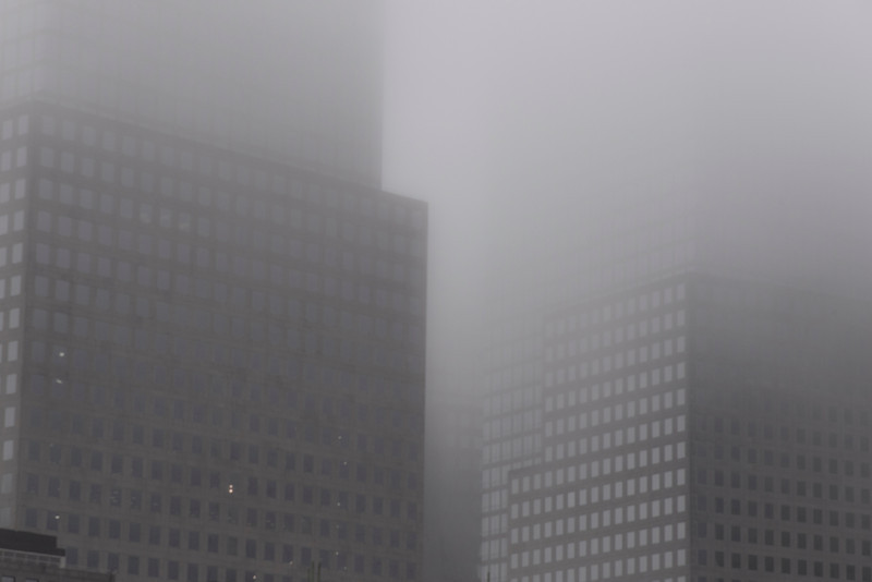 Lower Manhattan in Fog