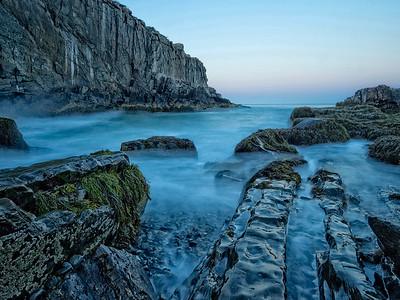 Blue Hour Rocks & Ocean