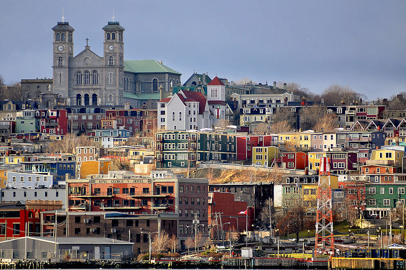 Downtown St. John's, from the south side.