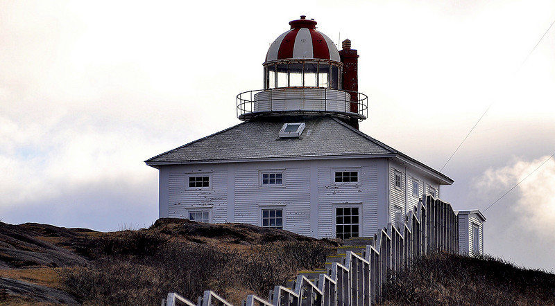 The old lighthouse at Cape Spear.