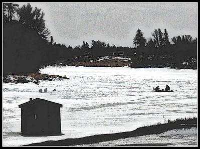Last bit of ice fishing for the season