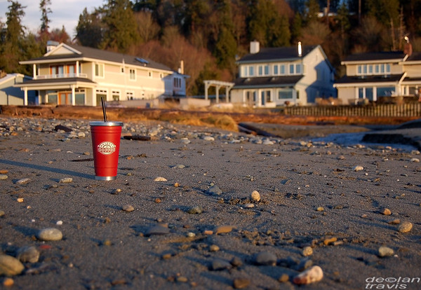 Whidbey Coffee on Maxwelton Beach