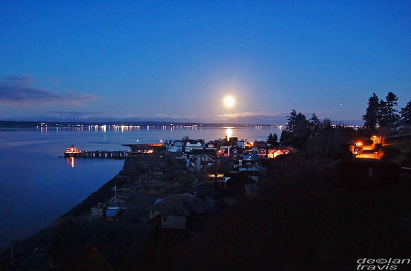 Full Snow Moon, South Whidbey Island