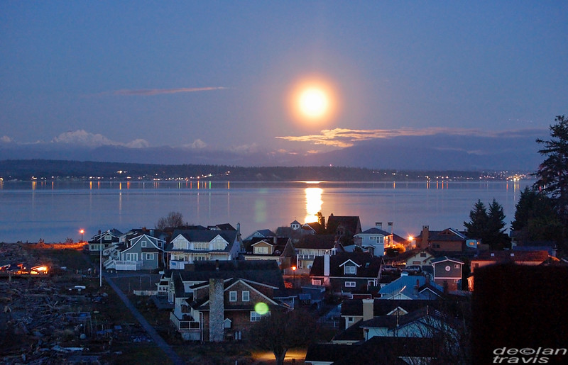 Full Snow Moon, South Whidbey Island, WA