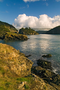 Deception Pass Bridge from the rocks.