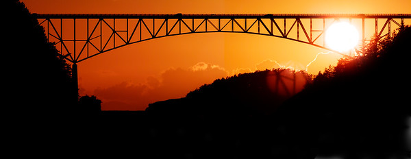 Deception Pass Sunset Panorama.