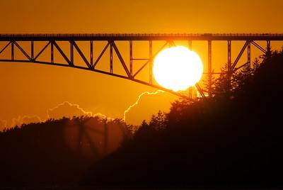 Sunset at Deception Pass.