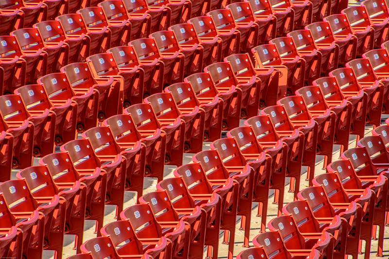 Rows of seats waiting to be sat in in Chicago