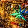 Christmas ornaments on the Barlow Christmas tree