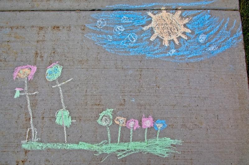 Chalk Art in Daybreak, South Jordan, Utah