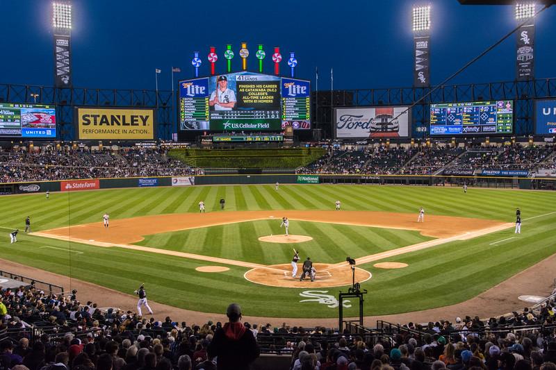 At the Chicago White Sox stadium