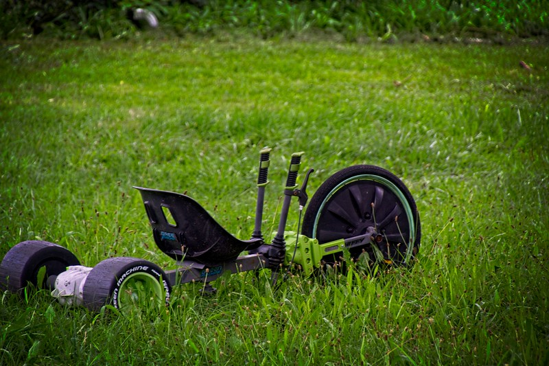 Big Wheel in the grass