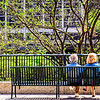 A nice couple enjoying the afternoon sun in Chicago