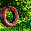 What a colorful tire swing