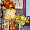 Fall decorations in Daybreak, South Jordan, Utah