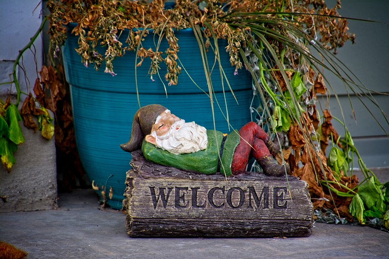 You're welcome to take a nap right here, Gnome! In Daybreak, South Jordan, Utah