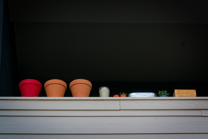 Just some pots on a ledge