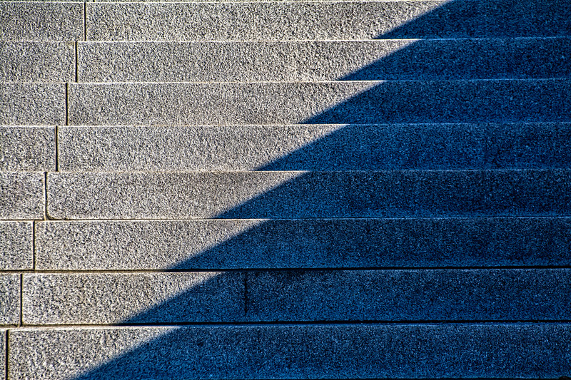 The south-facing steps of the new Federal Courthouse in Salt Lake City