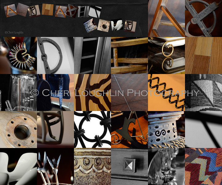 Compilation of photographed alphabet letters