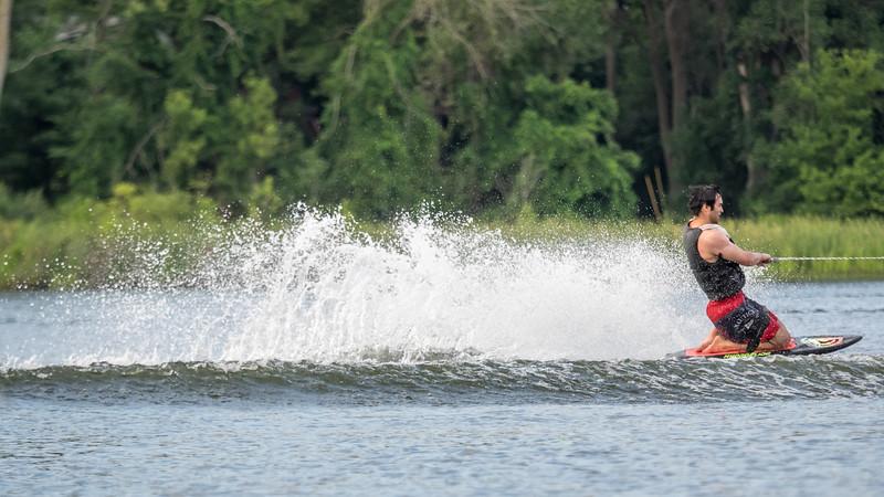 Gabe Wakeboarding on Loon Lake, MI