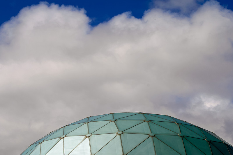 Dome of Lake Chabot Observatory and Clouds, Oakland CA