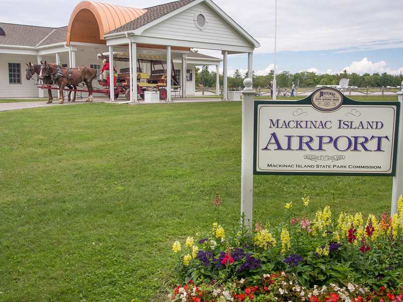 Horses, Buggies, and Airplanes, Mackinac Island, MI