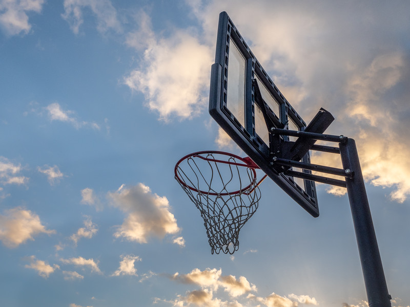 Basketball Net and Clouds