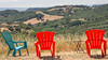 Two Red Chairs and a Blue One, Napa Valley CA