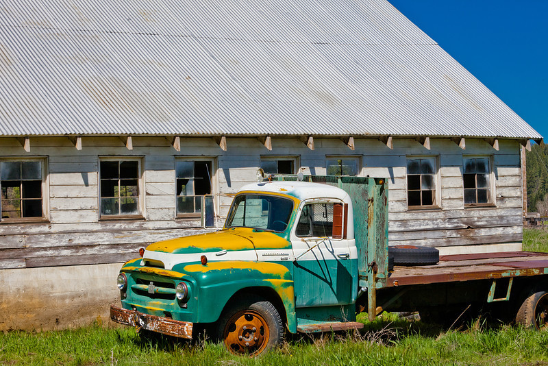 Old Truck and Old Barn, Taylorsville CA