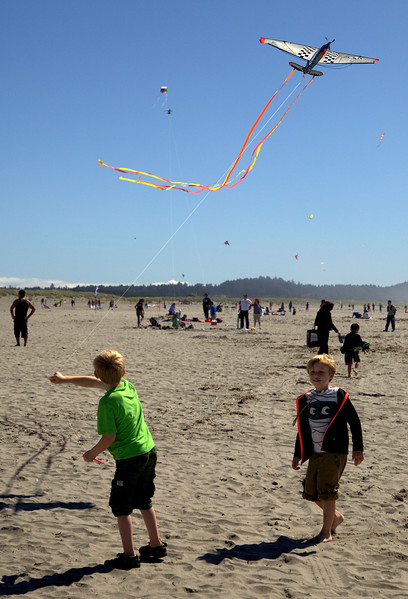Flying Kites.